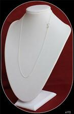 Sterling Silver Chain 18inch to 22 inch Variation listing 1.25MM Round Curb curb