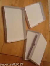 8x8 inch WHITE GIFT GREETING CARD,Postal Boxes 300gm no glueing self assembly