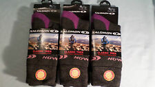 3 PAIR LADIES SALOMON MERINO WOOL HIKING WALKING TREK SOCKS LOVELY SOFT TOP