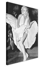 CLASSIC MARILYN MONROE SUBWAY WHITE DRESS LARGE CANVAS PICTURE PRINTS / WALL ART