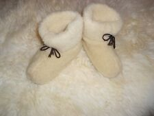 Men's sheep Wool SLIPPERS, New felt Boots, Sheepskin Warm Valenki, White snuggs