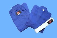 KANKU Karate Uniforms Blue for Adult and Kids 7.5oz, Karate gi, Martial Arts