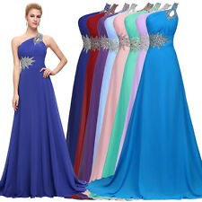 CHEAP~ Long Chiffon Evening Gown Bridesmaid Dresses Prom Formal Party Ball Gowns