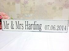 Large wedding top table sign personalised vintage chic and shabby