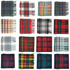 100% Lambswool Tartan Scarf   More colours Available