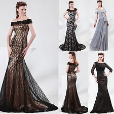 4 Styles Sexy Lace Vintage Formal Wedding Cocktail Prom Long Dresses Party Gowns