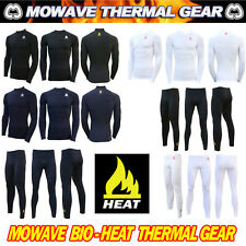 Mowave men winter compression thermal baselayer underwear shirts pants laggings
