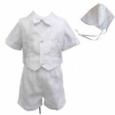 New Infant Baby Boy Christening Baptism Formal Suit Gown Outfits (New Born - 4T)