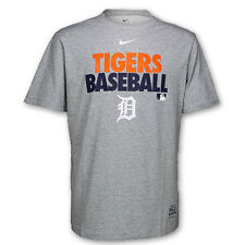 Detroit Tigers Gray Dri-FIT Cotton Graphic T-Shirt by Nike