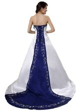 FairOnly Strapless Wedding Dresses Bridal Gown Custom Made Size 6 8 10 12 14 16+