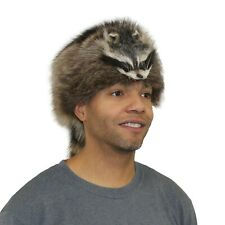 RACCOON DAVY CROCKETT STYLE FUR HAT/MADE IN GREENVILLE, MAINE USA!