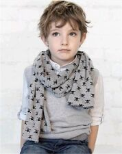 S1 Cool Childrens Scarf Kids Scarves Skull Shawl Cotton Muffler Neckerchief ZARA