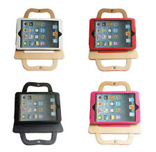 Carrying Cellphone/Charger/Cable Pocket PU Leather Cover Case Bag for iPad Mini