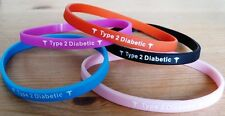 Silicon Bracelet - Type 2 Diabetic - Silicone Bracelet - Diabetes - Medical