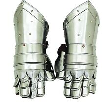 Medieval Gauntlets Armor Metal Plate Pair Set of 2 Gloves Knight Reenactment SCA