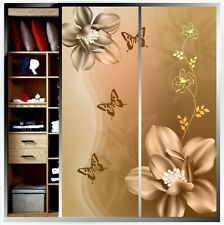 Personalized custom DIY film for glass window bathroom slide door Flower #D1087