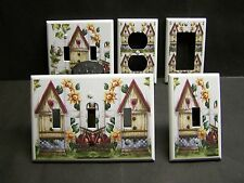 COUNTRY BIRDHOUSE APPLES & BASKET SUNFLOWERS LIGHT SWITCH OR OUTLET COVER V477