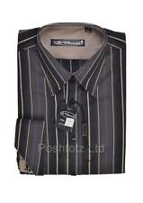 Poshtotz Romeo Shirt & Cufflinks Gift Set Black & Cream Formal Party 4-12 years