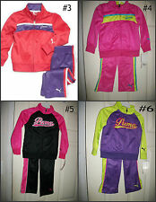 * NWT NEW GIRLS PUMA TRACKSUIT Tricot PANTS WINTER OUTFIT SET 2T 3T 4 5 6