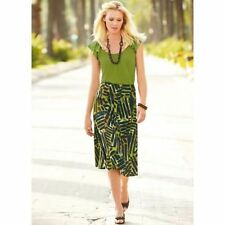 KALEIDOSCOPE LIME TRIBAL SKIRT LIME TOP & WOODEN NECKLACE BNWT