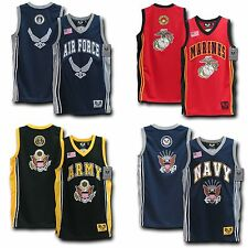 US Military Air Force Army Star Navy Marines Sports Basketball Jersey M L XL 2XL