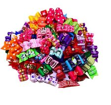 New Pet Hair Bows Mix Crown Rhinestones Dog Bows Pet Grooming Hair Accessories