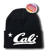 "FOR MEN WOMEN ""CALI"" CALIFORNIA FUNNY HOP Snowboard Ski Long Beanie HAT ONE SIZE"