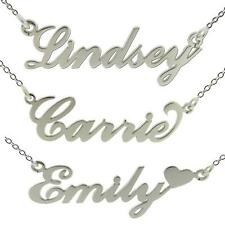 STERLING SILVER PERSONALISED ANY NAME PLATE NECKLACE AND CHAIN