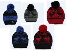 NWT ABERCROMBIE & FITCH MOOSE LOGO CLASSIC CABLE KNIT BEANIE HAT