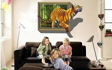 vivid Tiger Photo Fram 3D Wall Sticker Decor Decal Art Kids Room Decor removable