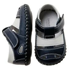 NEW Leather Baby / Toddler Boys Navy Sandal Shoes First Walkers Little Blue Lamb