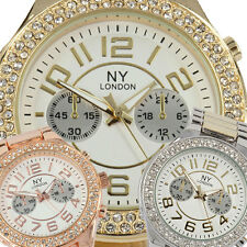 Girls Womens Ladies Party Bling Crystal Bezel NY London New Cool Fashion Watch