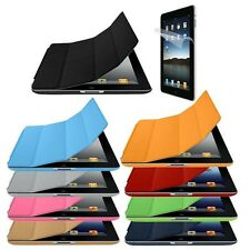 iPad 3 4 iContour UltraThin Hard Back Smart Stand Cover Case + Screen Protector