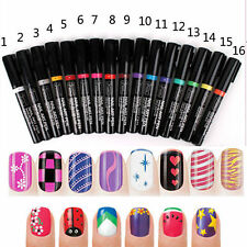 New Nail Art Pen Painting Design Tool 24 colors to Choose Drawing Gel Easy Made