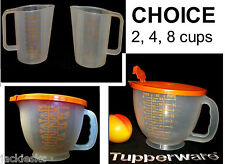 Tupperware BUTTERSCOTCH Measuring Pitcher CHOICE ~2cups ~4cups ~8 cups Mix Stor
