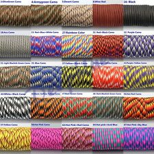 550 Paracord Parachute Cord Lanyard Mil Spec Type III 7 Strand 100FT 30 Colors