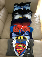 NWT BATMAN, SPIDERMAN, SUPERMAN, CPT. AMERICA  ZIP UP HOODIE SWEATSHIRT SZ. 2T-7