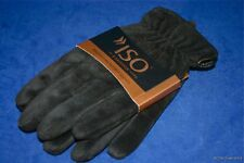Isotoner Mens Brushed Microfiber Black Gloves Water Repellant Large Great Gift!