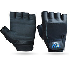 DAM Weight lifting Gym Gloves Black Unisex Cowhide Leather