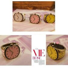 Ring Hot Korean Style Retro Cute Watch Clock Ring Size 7 S04 Fashion Style