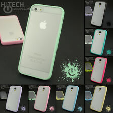 Plastic Silicone Bumper Case Shock Proof Hybrid Shiny Solid Hard Cover For