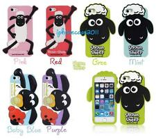 3D Cartoon Shaun The Sheep Timmy Time Silicone Rubber Full Case For iPhone 5 5S