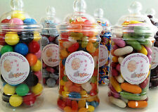 VICTORIAN STYLE JAR OF SWEETS HUGE CHOICE WEDDING/BIRTHDAY CHRISTMAS FREE UK P&P