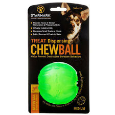 STARMARK Design—Treat Dispensing Chew Ball Extremely Durable Soft In Dog Mouth
