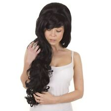 Amy Winehouse Long Curly Volume Wig | Lolita Cosplay Wigs Black, Blonde, Pink