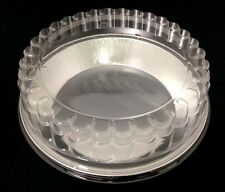 """Handi-Foil 9"""" Smooth-Wall Extra-Deep Pie Pan Plate Tin +Clear Dome Lid -HFA #509"""