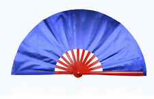 Chinese KungFu TaiChi Wushu martial art Stage Performance Red Bone Navy blue Fan