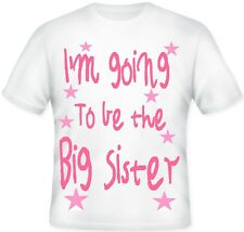 * GIRLS TOP T - shirt GIFT perfect for a BIG SISTER Pink SUBLIMATION design *