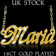 Personalised jewellery  MARIA 18ct/18k Gold Plated bridesmaid Name Mother's Day