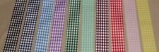 5 yds GINGHAM COUNTRY CHECK COTTON RIBBON (your choice of 10 colors)